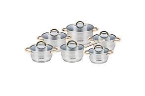 Набор посуды нержавеющий Maestro - 1,5 х 2 х 2 х 3 х 5 х 1,5 л, (6 шт.) MR-2106