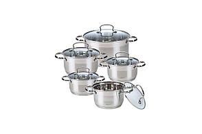 Набор посуды нержавеющий Maestro - 1,5 x 2,5 x 4 x 5 x 6 л (5 шт.) MR-3520-10