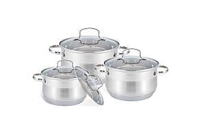 Набор посуды нержавеющий Maestro - 2,1 x 2,9 x 3,9 л (3 шт.)