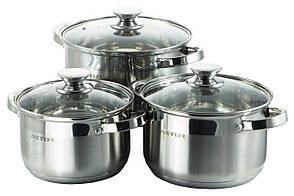 Набор посуды нержавеющий Astor - 2,9 x 3,9 x 5,1л (3 шт.)