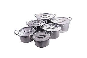 Набор посуды нержавеющий Empire - 1 x 2,3 x 3 x 3,8 x 5,5 x 7,3 л (6 шт.)