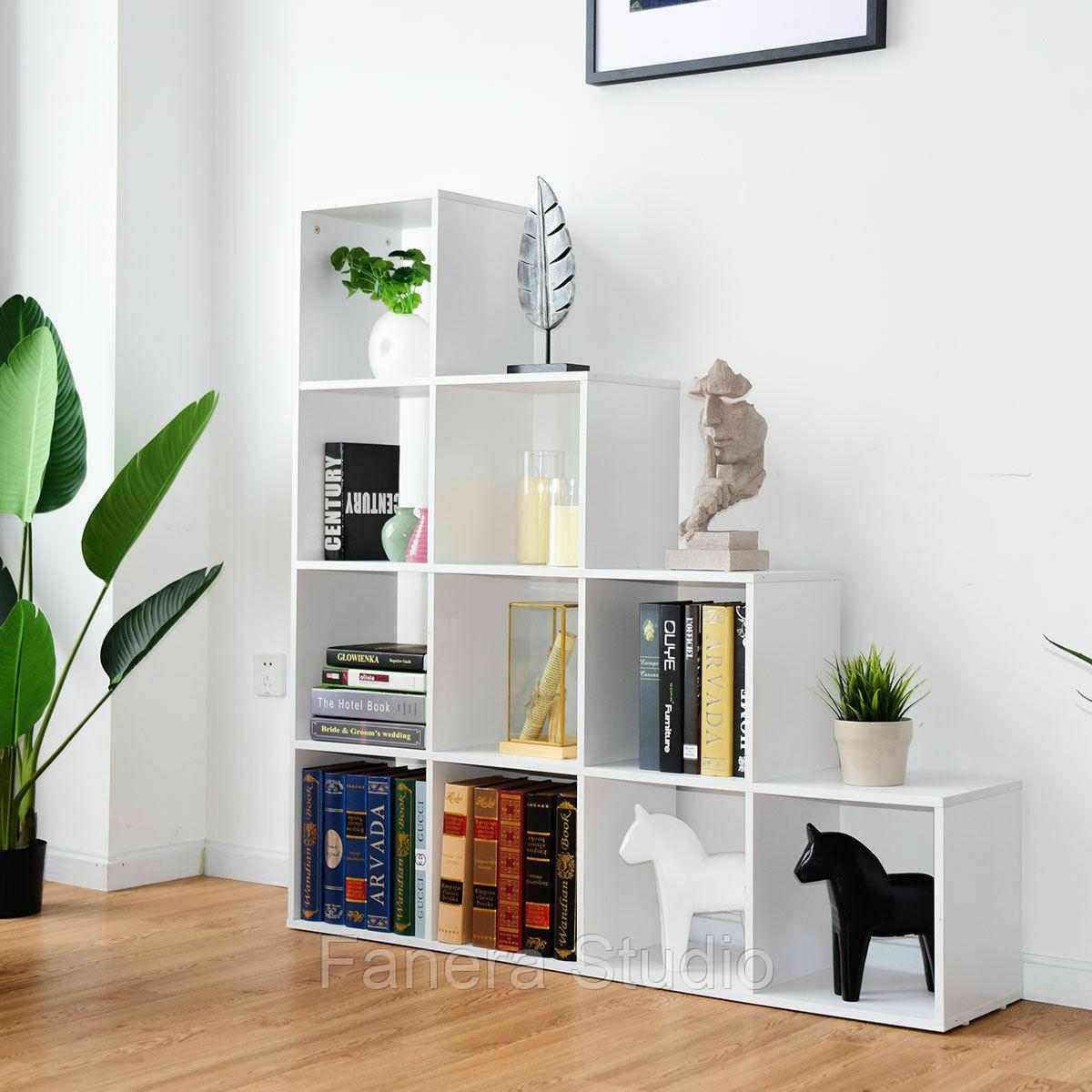 Стелаж-перегородка на 10 комірок, полка для книг, стелаж для іграшок ДСП