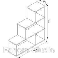 Полиця для книг, стелаж для будинку на 4 комірки, фото 3