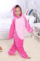 Кигуруми для детей Стич розовый, пижама кигуруми детская Стич розовый