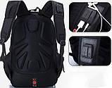 Місткий рюкзак з жорсткою спинкою. Чорний. + Дощовик. 35L / s8810-3 black, фото 3