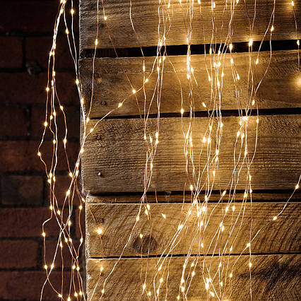 "Гирлянда ""Конский хвост"" пучок 360 LED: 18 линий по 2 м, 20 диодов/ нить, цвет - тёпло-белый, фото 2"