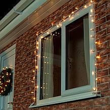 Уличная Гирлянда светодиодная нить ярка я10 м, 100 led белый каучуковый провод - цвет тепло белый с мерцанием, фото 3