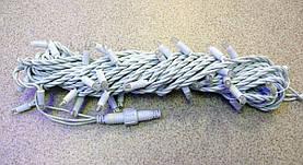 Уличная Гирлянда светодиодная нить, 10 м, 100 led белый каучуковый провод - цвет красный мерцающий эффект, фото 3