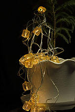 Электро-гирлянда 20L с насадкой «Золотой бочонок» на 20 светодиодов, фото 3