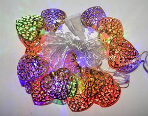 Электро-гирлянда 20L с насадкой «Золотое сердце» на 20 светодиодов, разноцветная, фото 2