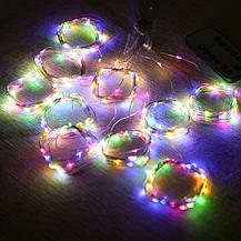 """Штора на медной проволоке """"Капля росы"""" 2х2м, 200 led цвет разноцветный гирлянда на Новый год, фото 2"""