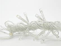 Гирлянда Бахрома на прозрачном проводе 3 x 0,7м 140 led тепло-белый цвет, переходник, фото 2