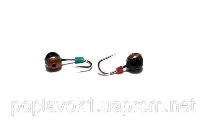 Мормышка вольфрамовая Шар с коронкой (медь)