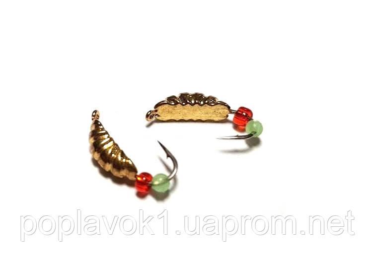 Мормышка вольфрамовая Опарыш (золото)