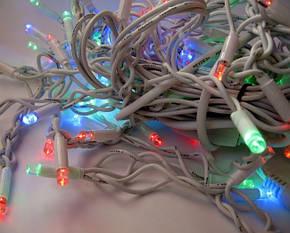 Уличная Гирлянда светодиодная нить, 20 м 200 led белый каучуковый провод, разноцветный, фото 2
