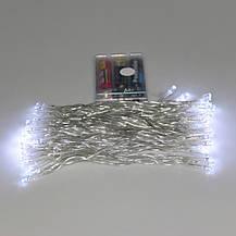 Гирлянда на батарейках 40 led, новогодние украшения - синяя, фото 3