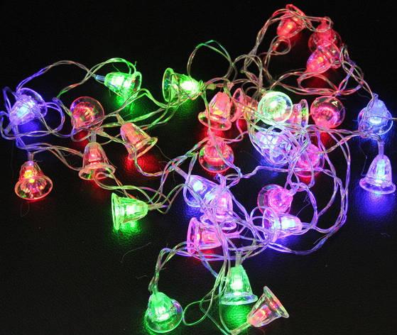 Новгодняя Гирлянда колокольчики - разноцветные, фото 2