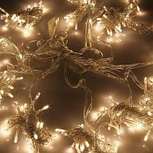 Штора 3х3м 300 led, цвет тепло-белый - декоративная гирлянда на Новый год, переходник, фото 3