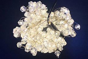 """Штора """"Хрустальный камень"""" 2х2м, 200 led, цвет тепло-белый - декоративная гирлянда на Новый год, фото 2"""