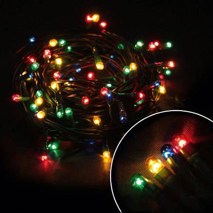 """Гирлянда светодиодная нить """"Мini lamp"""", 400 led, 20 м черный провод - цвет разноцветный, фото 2"""