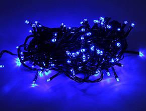 Внутренняя Гирлянда светодиодная нить 25м, 500 led черный провод - цвет синий, фото 2