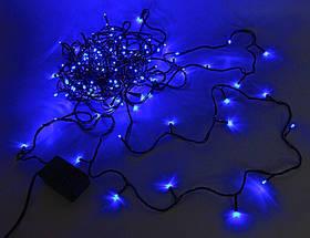 Внутренняя Гирлянда светодиодная нить 25м, 500 led черный провод - цвет синий, фото 3