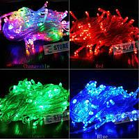 Новогодняя cветодиодная гирлянда LED 200 лампочек (13м): 6 цветов