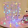 Новогодняя светодиодная гирлянда Шарики: 80 ламп, 12 метров (белый цвет), фото 4