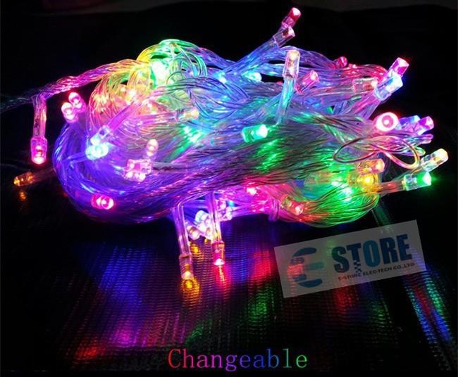 Новогодняя cветодиодная гирлянда 500 LED лампочек: длина 30м, микс цветов