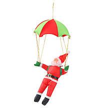 Дед Мороз на парашюте (Санта Клаус на зонтике парит в воздухе): фигурка 40см на парашюте 55см, фото 3