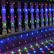 Гирлянда сетка LED 120 диодов 2х1,5м на окно: белый цвет, фото 3