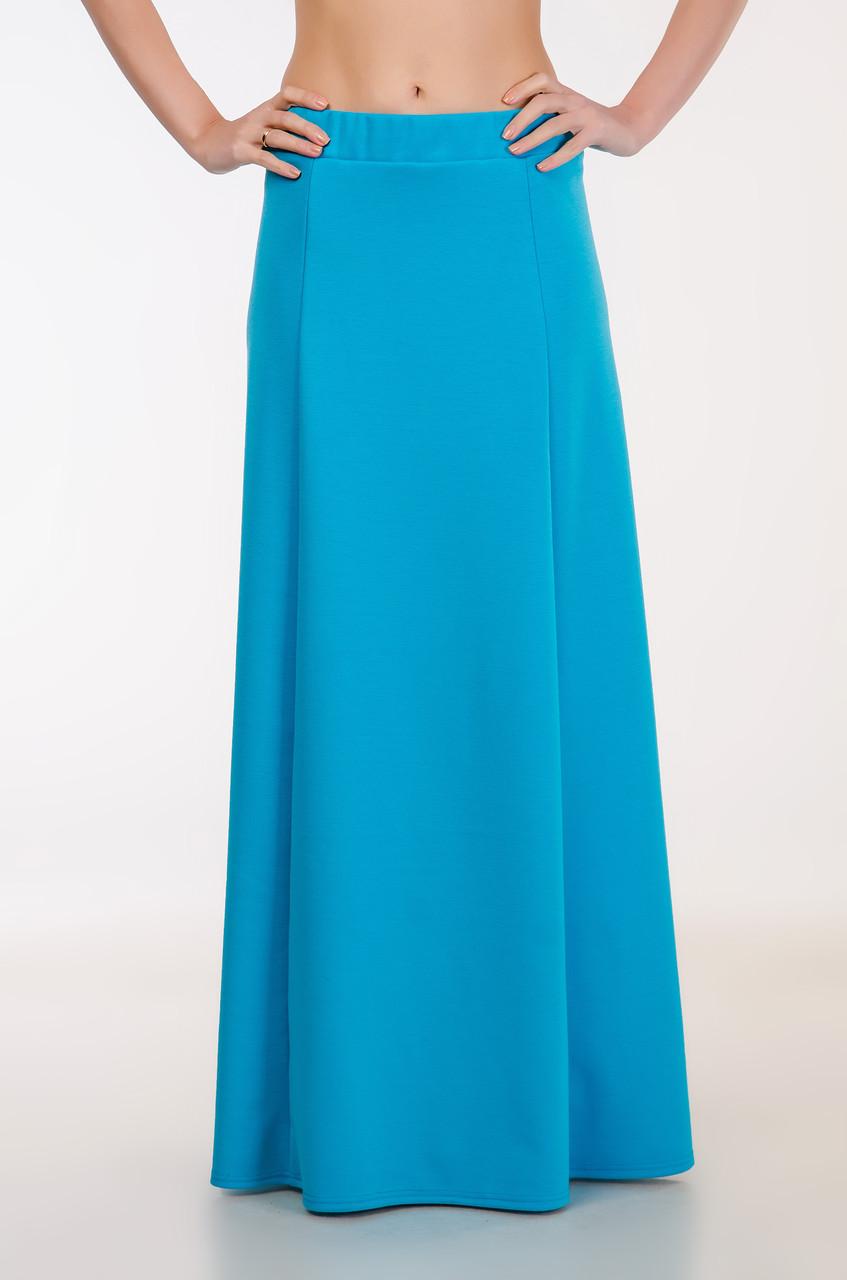 5800bc0c4a7 Женская юбка в пол (макси) из французского трикотажа  продажа