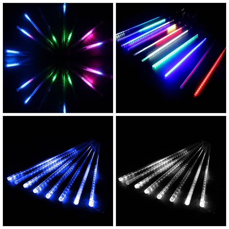 Гирлянда Тающие сосульки LED 50см: 8 штук в комплекте, 3 цвета Мульти