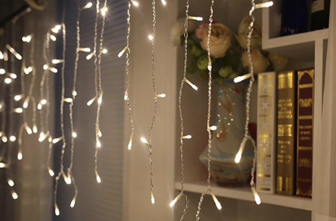 Светодиодная гирлянда Shine Lighting Бахрома 100LED 3 метра Тепло-белая