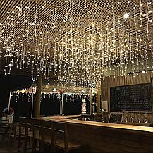 Светодиодная гирлянда Shine Lighting Бахрома 100LED 3 метра Тепло-белая, фото 2