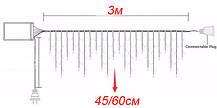 Светодиодная гирлянда Shine Lighting Бахрома 100LED 3 метра Тепло-белая, фото 3