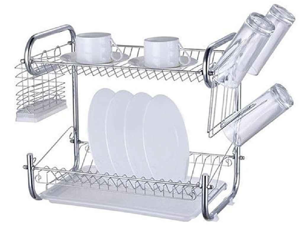 Сушилка для посуды Zauberg 2-х ярусная маленькая 80519-42