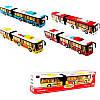 Автобус 6012B   металл,  инер-й, 36см, муз, зв, св,  двери открыв.4цв,  бат(таб),  в кор-ке,  40-9, 5-7см