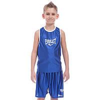 Детская боксерская форма синяя EVERLAST CO-6337, S, рост 125-135 см (24)