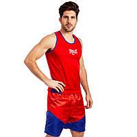 Комплект для бокса майка и шорты EVERLAST красные VL-3061, S