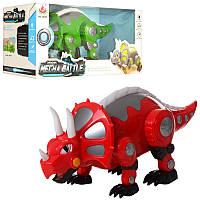 Динозавр 28305  35см,  ходит,  муз,  звук,  свет,  2 цвета,  на бат-ке,  в кор-ке,  36-15-18см