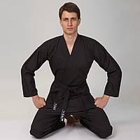 Кимоно для каратэ черное MATSA MA-0017, 160