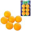 Теннисные шарики MS 0226  40мм,  PP,  бесшовный,  1 упаковка 6шт,  на листе,  10, 5-17, 5-4см