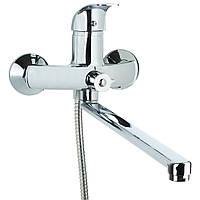 Смеситель SD Ø40 для ванны гусак прямой 350мм дивертор встроенный картриджный TAU (SD-2C243C), фото 1