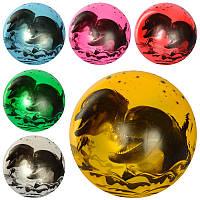 Мяч детский MS 1901  9 дюймов,  дельфины,  рисунок,  60-65г,  6цветов