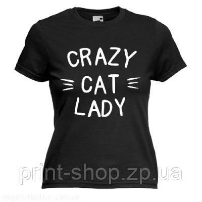 Футболка Crazy lady cat