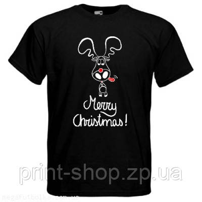 Футболка Merry Christmas олень