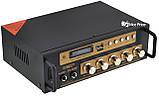 Усилитель звука UKC SN-222BT MP3 FM Bluetooth Black/Gold (4841), фото 2