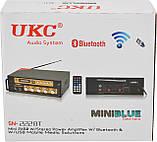 Усилитель звука UKC SN-222BT MP3 FM Bluetooth Black/Gold (4841), фото 5