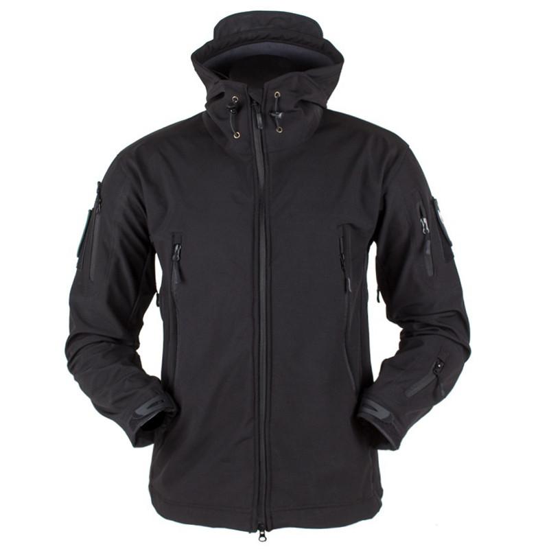 Тактическая куртка Soft Shell (Black) XXXXL